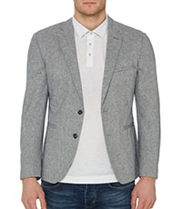 Slim fit cotton-wool blend jacket