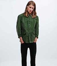 Urban Renewal Vintage Customised Swedish Work Jacket in Olive