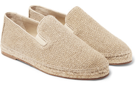 Stylish Summer Travel Dolce & Gabbana Linen-Canvas Espadrilles