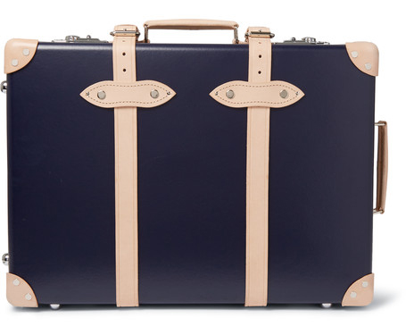 Stylish Summer Travel Kingsman GLOBE-TROTTER PINSTRIPE-LINED TROLLEY CASE