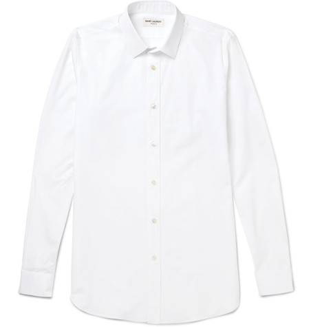 Stylish Summer Travel SAINT LAURENT - SLIM-FIT COTTON-POPLIN SHIRT