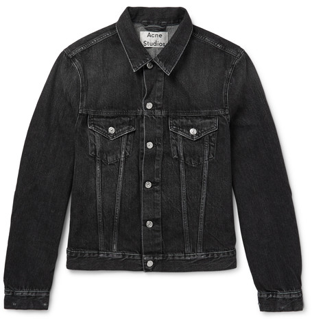 acne studios washed black denim jacket