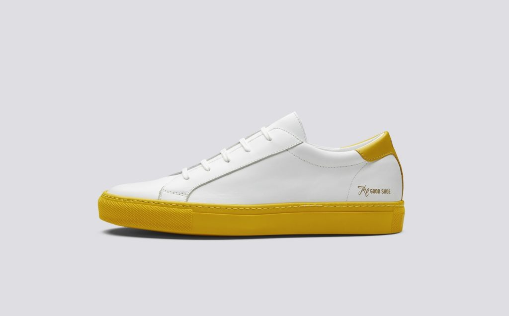 grenson sneaker white yellow