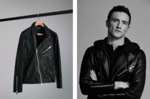 reiss leather spring jacket