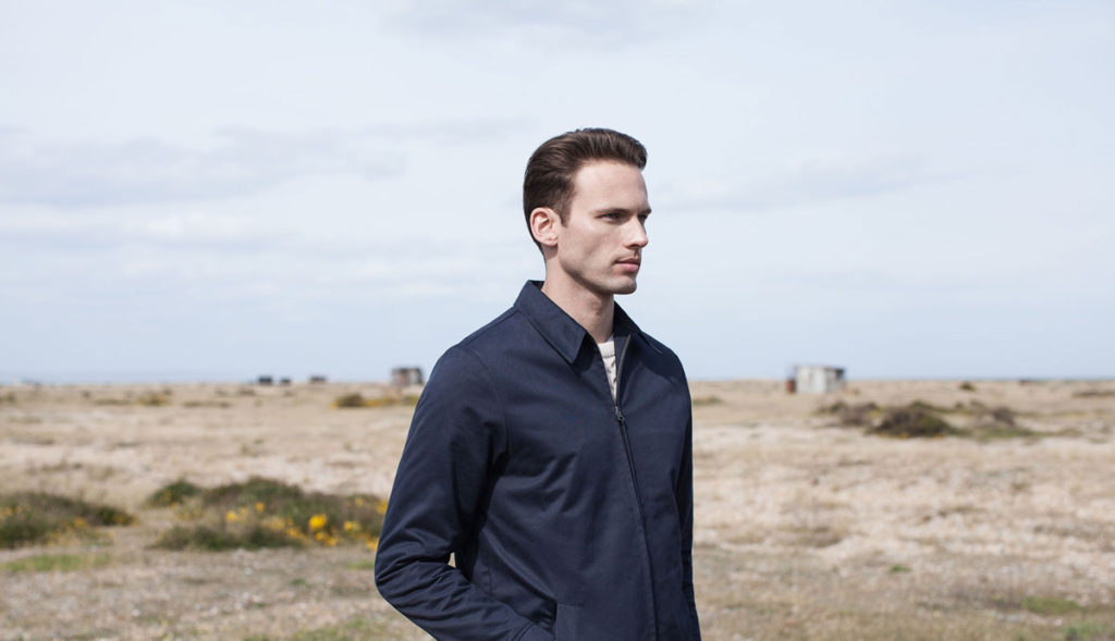 sunspel navy jacket