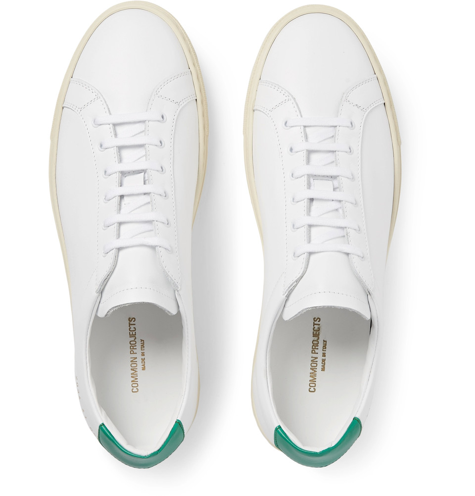 #500: Mr James Samuel COMMON PROJECTS Achilles Retro Leather Sneakers