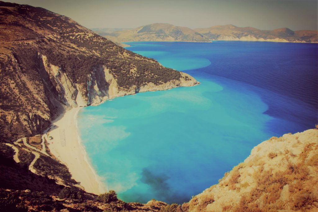 Kefalonia Myrtos Beach view