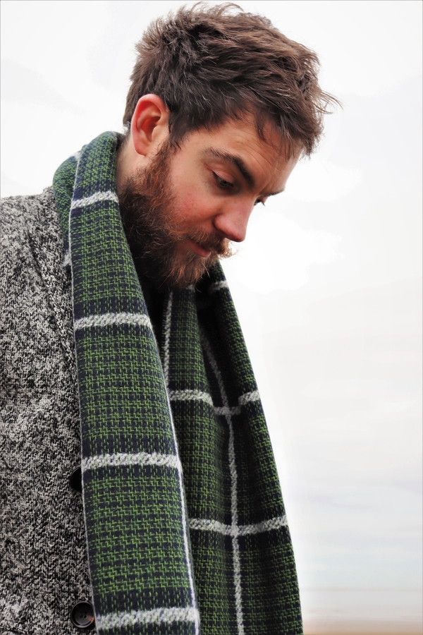 Styling out the Winter freeze with Mr P Checked Double-Faced Wool-Blend Scarf