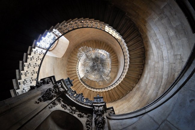 Uncovering the finest architecture in London - Geometrical staircase St Paul's Cathedral
