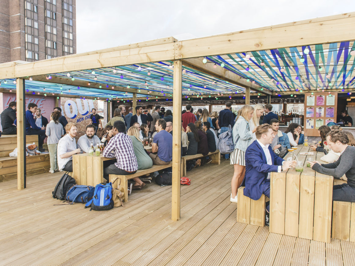Bar Elba is one of the best rooftop bars in London