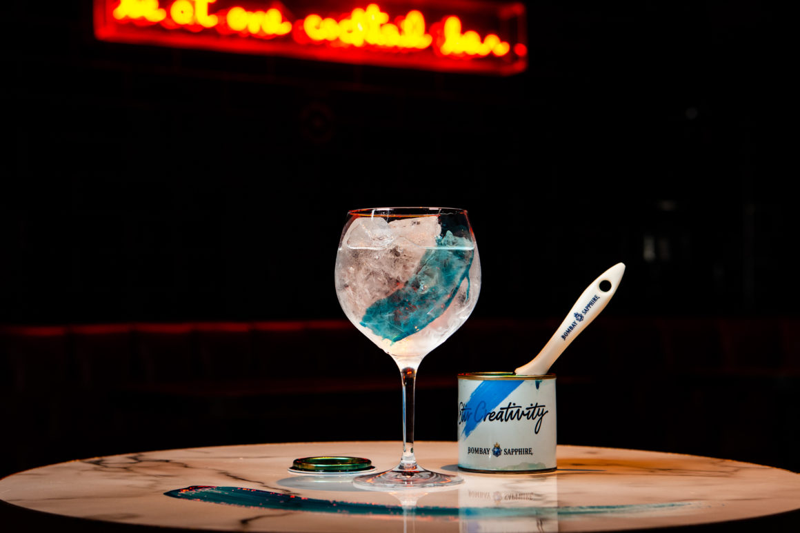 Celebrate World Cocktail Day 2019 by Going Out OR Staying In - Blue Ticked - Bombay Sapphire Paint - Be At One