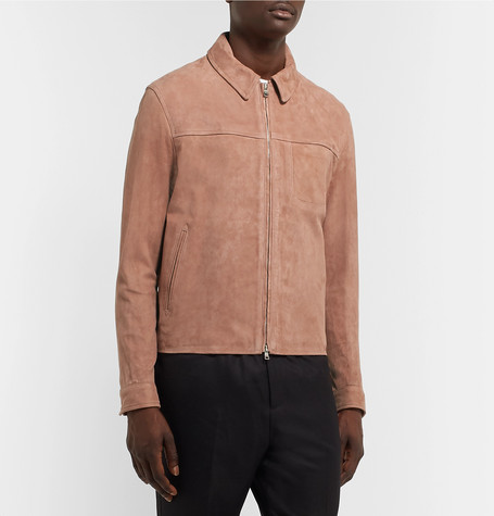 Mr P Summer Collection Slim-Fit Suede Blouson Jacket