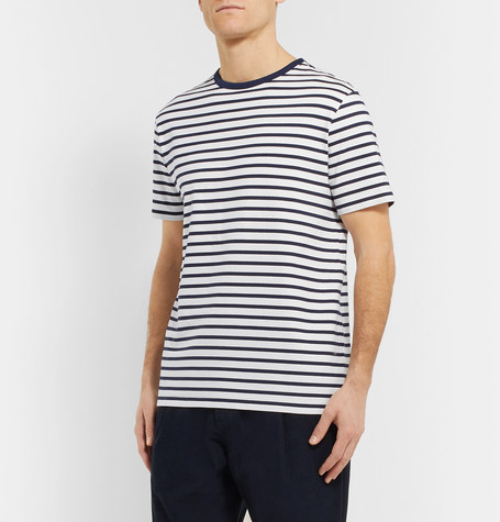 Mr P Summer Collection Striped Cotton-Jersey T-Shirt